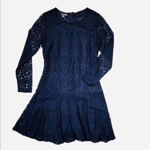 Nwt lace Seamed Flare Dress